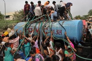 residents in india fight for water